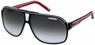 Carrera Eyewear grand prix 2 O1T 62 WJ Black red grey polarised aviator full rim sunglass