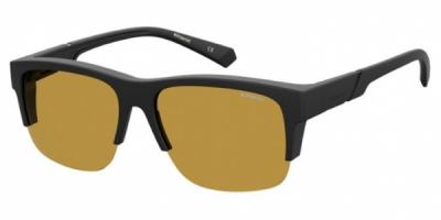 Polaroid Eyewear Fitover PLD 9016S 003 MU BLACK yellow polarised fitover wraparound mens womens sunglass culture side