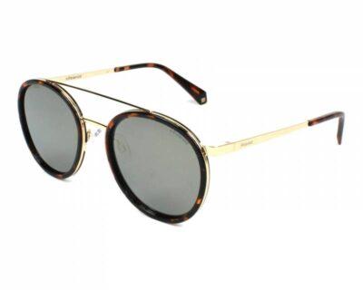 Polaroid PLD 6032S 086 LM 52 53 Havana and Gold Grey Polarised round aviator fashion sunglasseswomen and men sunglass culture side