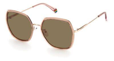 polaroid eyewear pLD 6153S 35J pink brown square fashion womens sunglass culture side