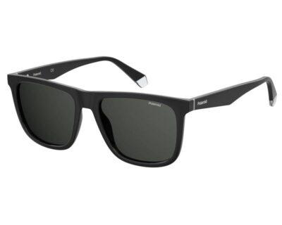 Polaroid PLD 2102 SX 807 M9 55 Black Grey Polarised Square driving sportwear everyday sunglass for men and women sunglass culture side