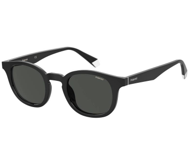 Polaroid sunglass eyewear PLD 2103/S/X 807 M9 55 Black grey Polarised round mens womens driving everyday sunglass culture