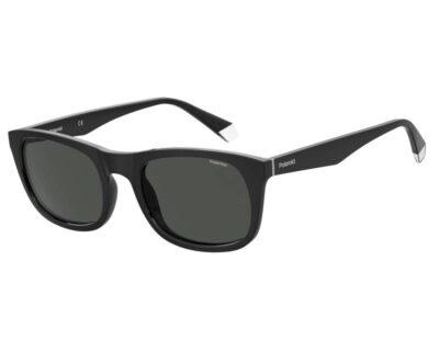 Polaroid sunglass eyewear PLD 2104/S/X 807 M9 55 Black grey Polarised wayfarer mens womens driving everyday sunglass culture