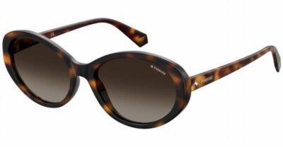 Polaroid Eyewear pLD 4087S 086 LA Havana Brown polarised round oval fashion womens sunglass culture side