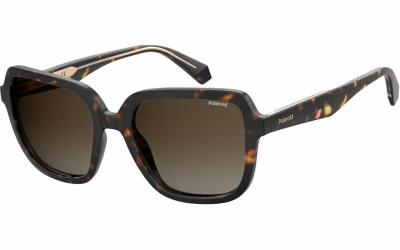 Polaroid PLD 4095 SX 086 LA 53 Havana/Brown Polarised butterfly fashion sunglasses for women sunglass culture side