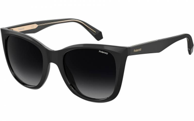 Polaroid PLD 4096SX 807 WJ M9 52 Black grey Polarised Square cat eye fashion sunglasses for women sunglass culture side
