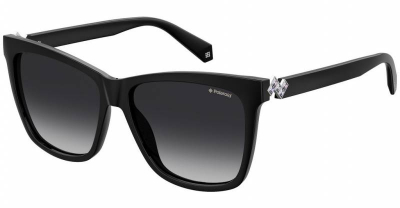Polaroid PLD 4078SX 807 M9 53 Black Grey Polarised Square cat eye fashion sunglasses for women sunglass culture